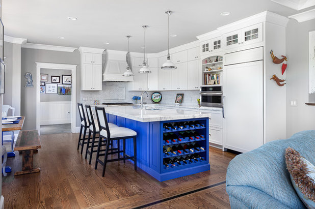 Transitional Kitchen by Modular Home Builders Association