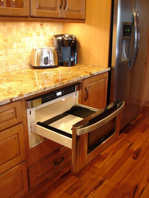 traditional kitchen idea in cleveland - Sharp Drawer Microwave