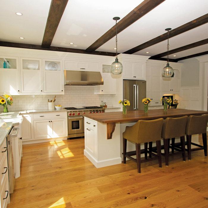 Aurora White Classic Kitchen in new addition.