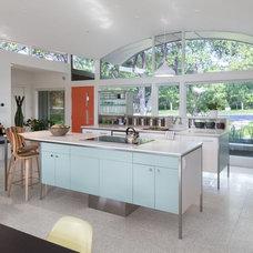 Midcentury Kitchen by Concrete Collaborative