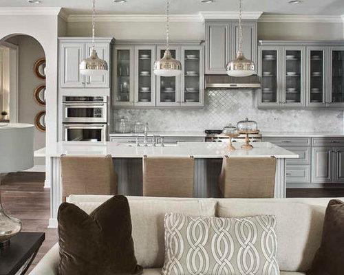 Ideas para cocinas | Fotos de cocinas comedor con puertas de armario ...