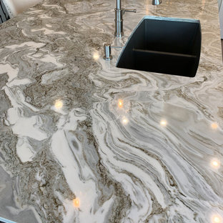 Avalanche granite with Blanco sink in Cinder