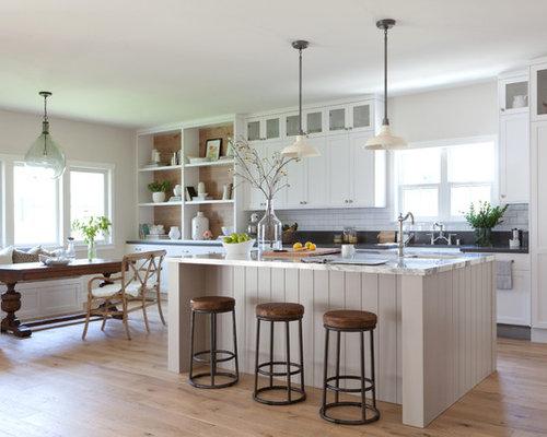 Large Farmhouse Open Concept Kitchen Designs   Large Farmhouse Galley  Medium Tone Wood Floor Open Concept Part 4
