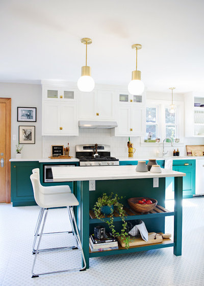 Transitional Kitchen by Design Factory Interiors