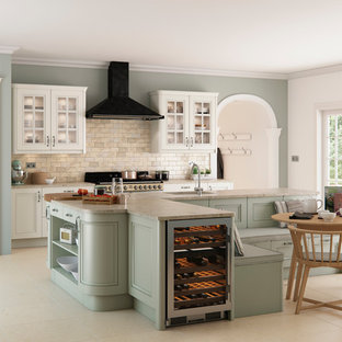 Avonlea Oak Painted Brilliant White and Sage Green from Kitchen Stori