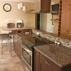 Transitional Kitchen by PH'Designs