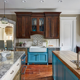 Traditional Kitchen Designs   Inspiration For A Timeless Medium Tone Wood  Floor Kitchen Remodel In Huntington