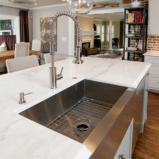 Transitional Kitchen by John Rogers Renovations, Inc.