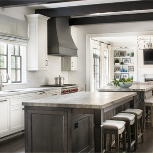 Cream Grey And Brown Granite Counter To Ideas Photos Houzz