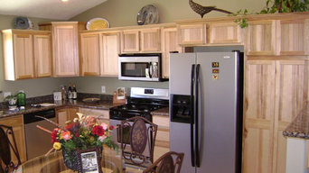 AWS Design using Laurel Hickory natural from HomeCrest Cabinetry