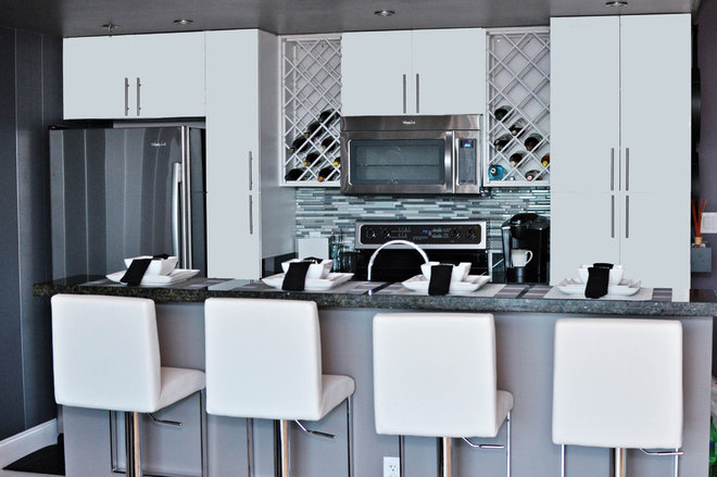contemporary kitchen by Nicole White Designs Inc