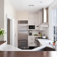 transitional kitchen by Pinney Designs