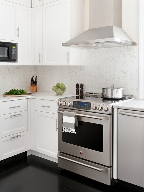 SaveEmail - White Mosaic Tile Backsplash Ideas, Pictures, Remodel And Decor