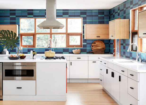 Midcentury Kitchen by Fireclay Tile