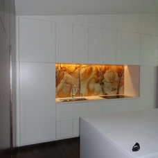 Modern Kitchen by Sideli Tile and Stone
