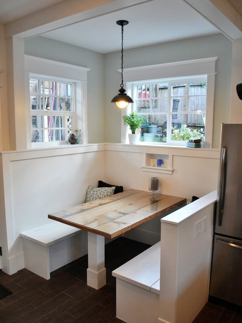 Example Of A Trendy Kitchen Design In Seattle With Stainless Steel  Appliances