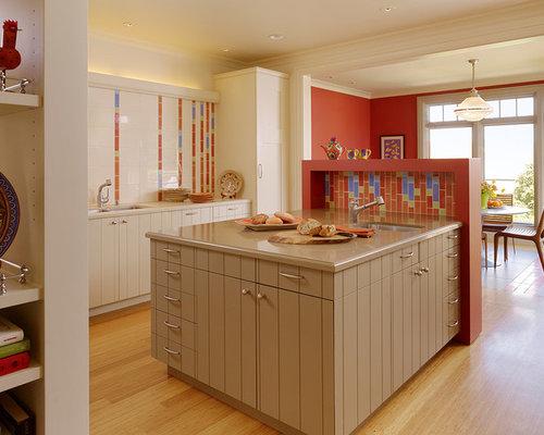 Kitchen Backsplash Orange orange tile backsplash   houzz