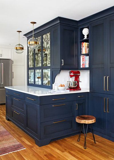 Transitional Kitchen by Haus Interior Design