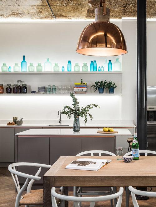 cuisine avec un plan de travail en surface solide photos et id es d co de cuisines. Black Bedroom Furniture Sets. Home Design Ideas