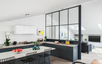 Soluciones para independizar la cocina en espacios abiertos