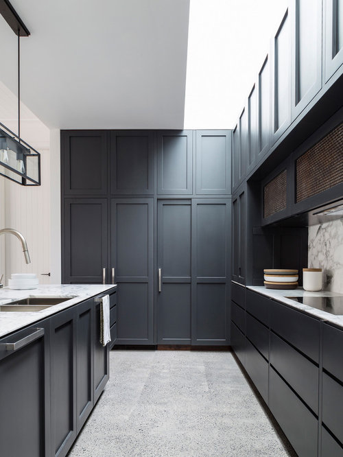 Kitchen with Black Cabinets Design Ideas & Remodel Pictures | Houzz