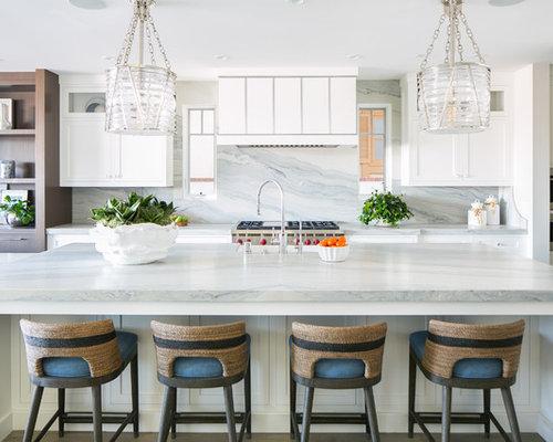 cuisine avec un plan de travail en granite et un vier de ferme photos et id es d co de cuisines. Black Bedroom Furniture Sets. Home Design Ideas