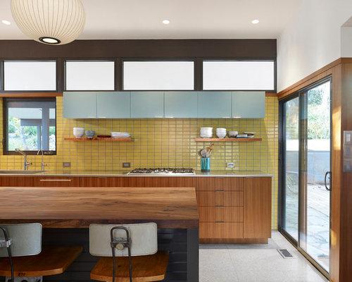 Cuisine parall le avec sol en terrazzo photos et id es for Amenagement cuisine parallele