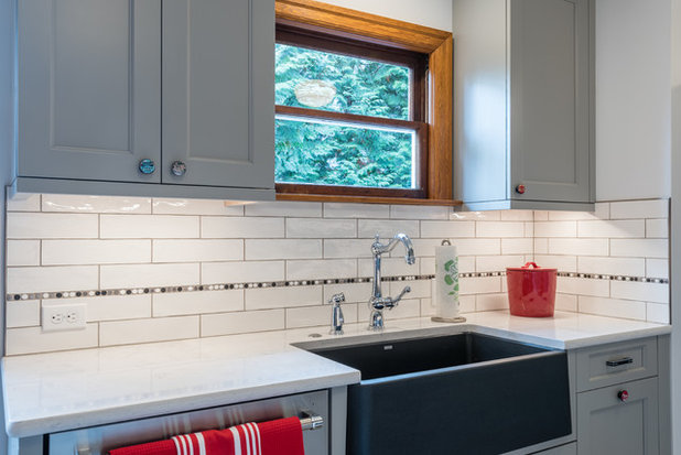 Transitional Kitchen by Irons Brothers Construction Inc