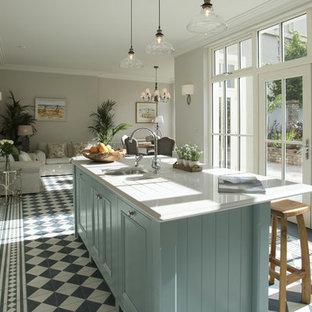 Cucina con pavimento con piastrelle in ceramica Dublino ...