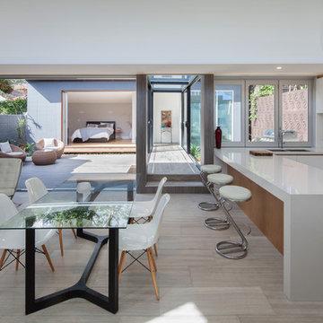 Balmain Residence - Open Plan Kitchen, Dining, Living by studioJLA