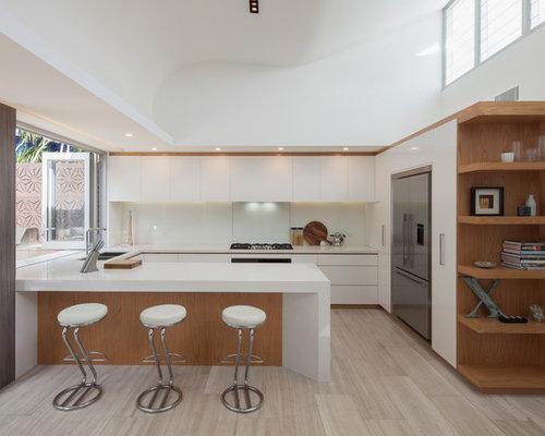 651 modern kitchen with travertine floors design ideas
