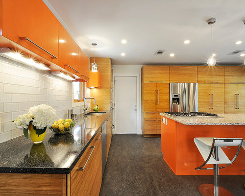 8x8 kitchen design ideas renovations photos with orange for 8x8 kitchen ideas
