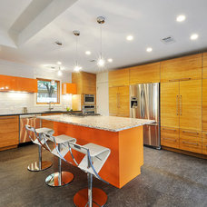 Eclectic Kitchen by Bamboo Crew Custom Cabinets and Countertops