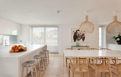 Houzz Tour: Stilet, moderne og minimalistisk lejlighed i 3 etager