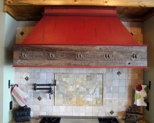 Rustic Range Hood Ideas, Pictures, Remodel and Decor