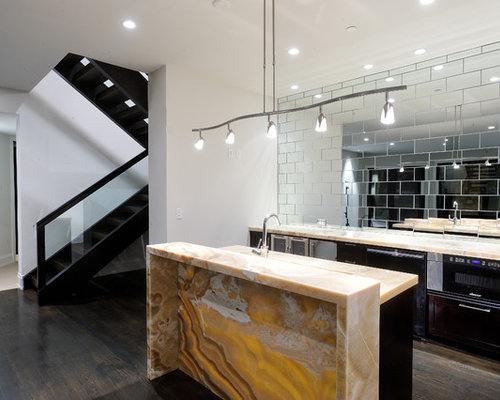 Mirrored Subway Tile Houzz
