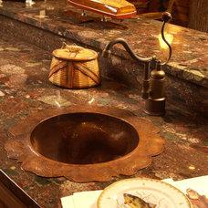 Rustic Kitchen by Gabberts Design Studio