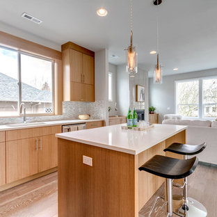 Inspiration for a modern kitchen remodel in Portland