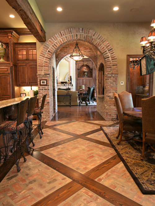 Brick Floor With Wood Inlay Ideas Pictures Remodel And Decor