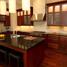 Contemporary Kitchen Cabinetry by Barber Cabinet Co.