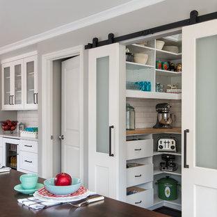Barn Door Walk-In Pantry, Transitional Kitchen Remodel