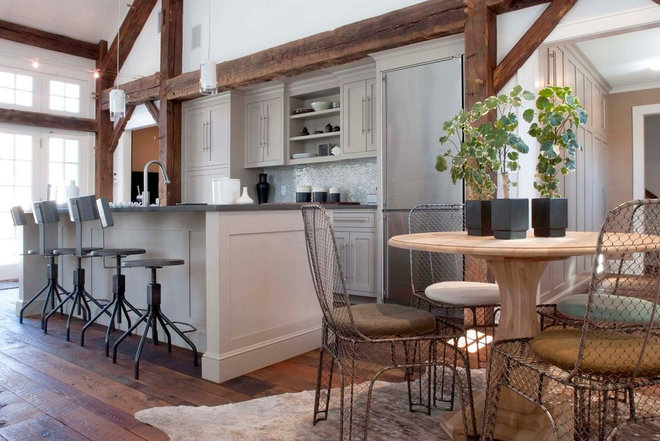 Houzz Tour Farmhouse Meets Industrial In A Restored New Jersey Barn