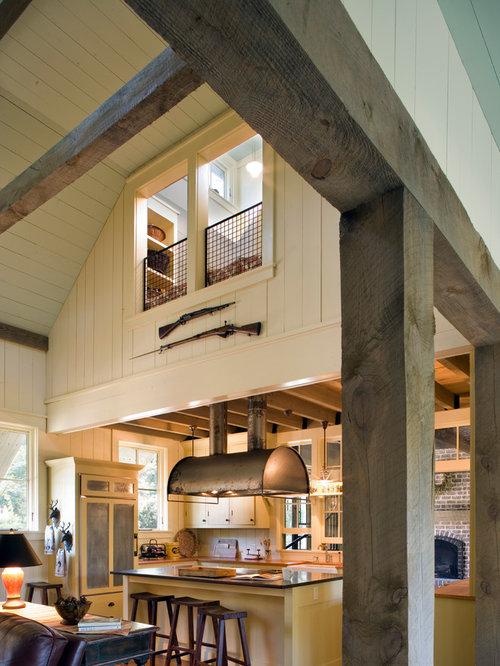 loft above kitchen home design ideas  renovations   photos