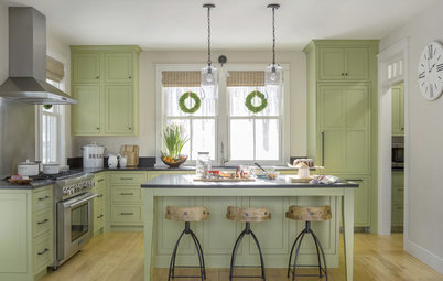 New This Week: 4 Refreshing Kitchens With Green Cabinets