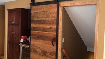 Barn wood sliding door