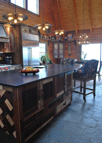 Fresh Rustic Kitchen by KPD Interiors