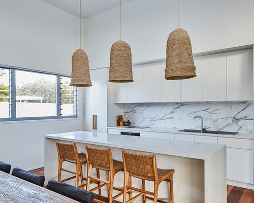Photo Of A Beach Style Galley Open Plan Kitchen In Gold Coast   Tweed With A
