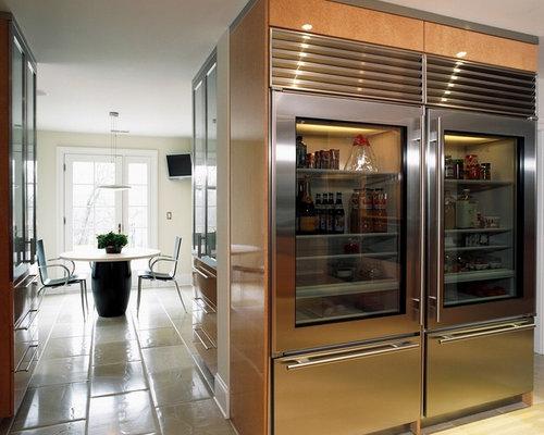 Glass Door Refrigerator Design Ideas & Remodel Pictures | Houzz