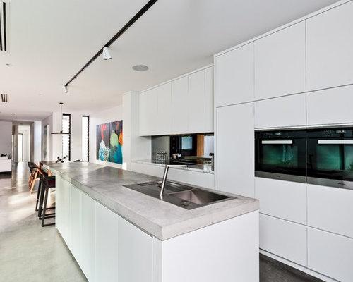 Kitchen Design Ideas Renovations Photos With Mirror Splashback