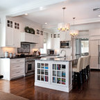 Soothing White And Gray Kitchen Remodel Traditional